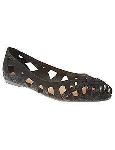 Cutout Peep-Toe Flat