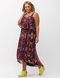 Tiered High-Low Maxi Dress