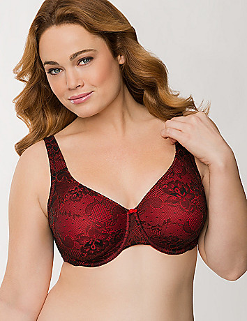 Plus size luxury lace full coverage bra