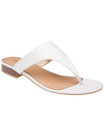 Wide Width Patent Slide Sandal by Lane Bryant